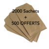 2500 sachets kraft