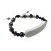 Bracelet perle noir personnalisable