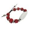 Bracelet perle rose personnalisable
