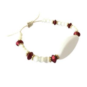Bracelet Blanc & Rouge
