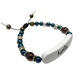 Bracelet Bleu & Cuivre
