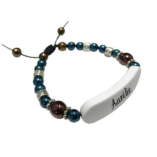Bracelet prenom perle personnalisable