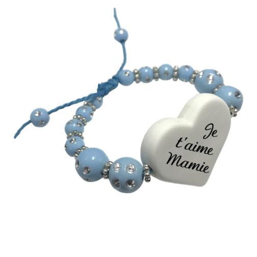 Calque Bracelet perle bleu personnalisable