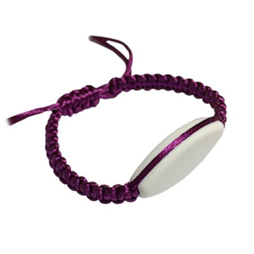 bracelet macramé fuchia à personnalisé aysun