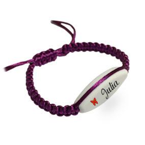 Bracelet Fuchsia Macramé