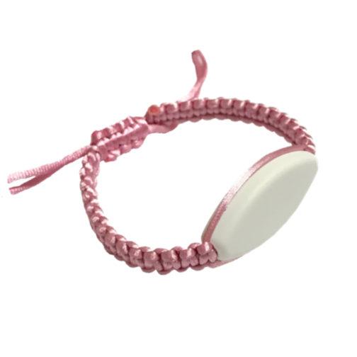 bracelet macramé rose pâle à personnalisé aysun