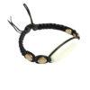 bracelet noir macramé personnalisable