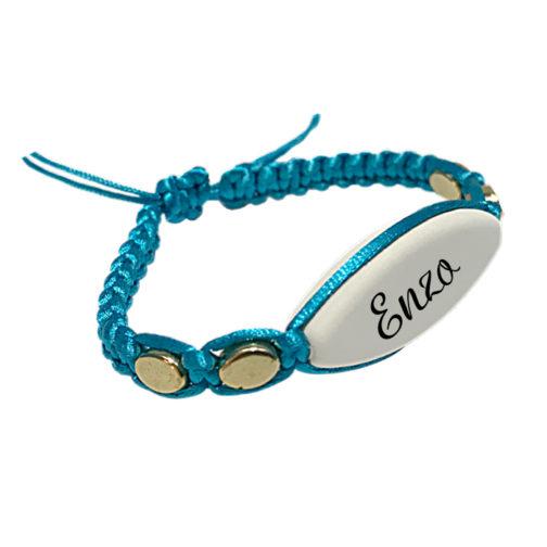 bracelet prenom beu macramé personnalisable