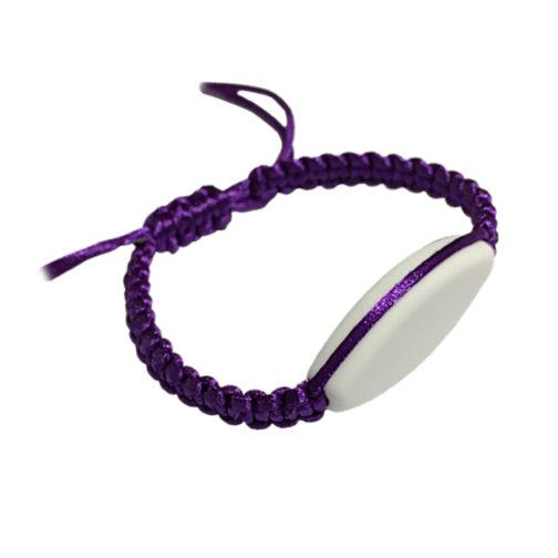 bracelet violet prenom à personnalisé aysun