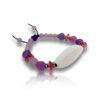 Bracelet perles violet personnalisable