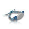 Bracelet dauphin bleu personnalisable