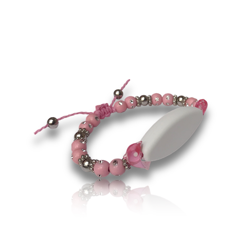 Bracelet dauphin rose personnalisable
