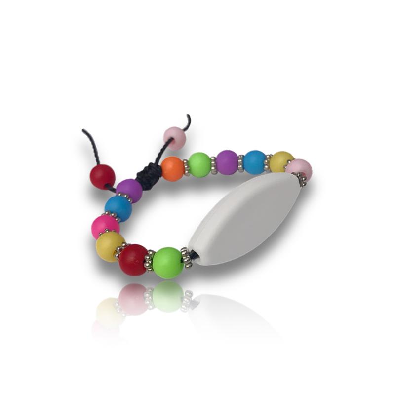 Bracelet perle fluo personnalisable