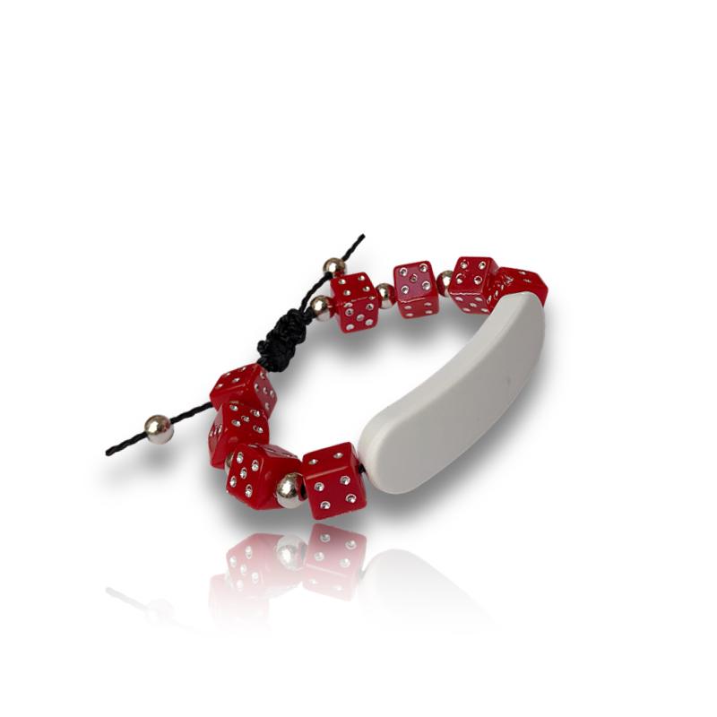 Bracelet perle rouge personnalisable