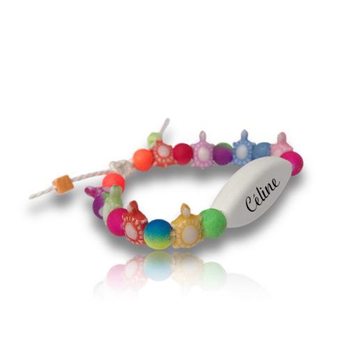 Bracelet perle tortue personnalisable ecrit