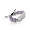 Bracelet perle violet personnalisable