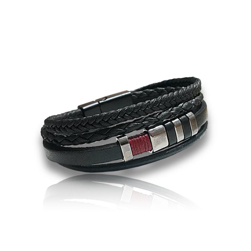 Bracelet cuir noir aysun